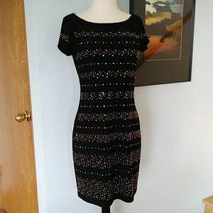 White House Black Market Studded Fitted Dress
